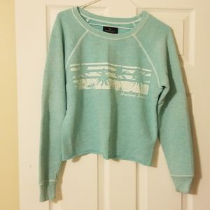 American Eagle Cropped Crew Neck
